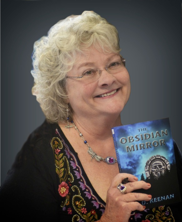 "K.D. Keenan, author of ""The Obsidian Mirror"""