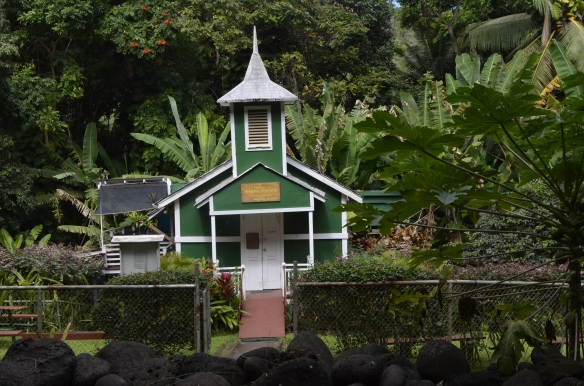 Tiny church on the road to Halawa Valley.