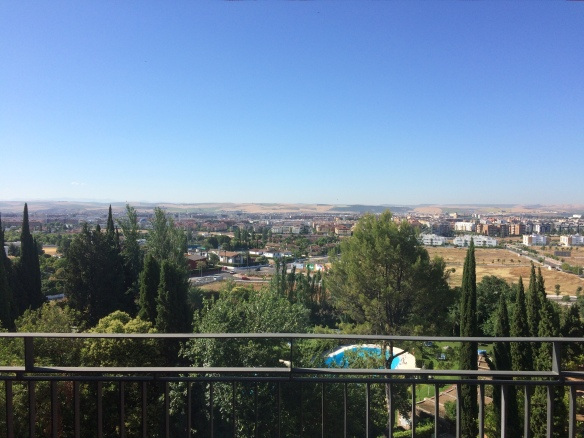 The view of Cordoba from our balcony