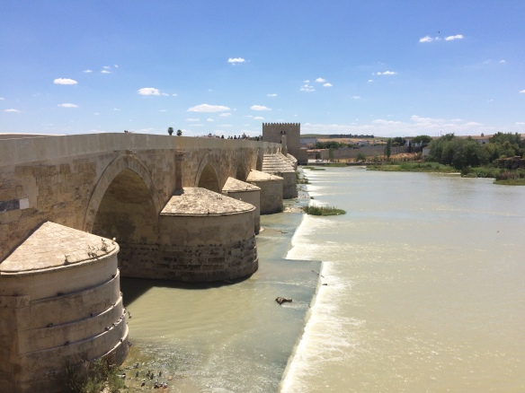 View from the Roman bridge across the Guadalquivir River toward the Museum of Al-Andal Life