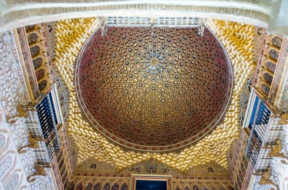 Ceiling of the Ambassadors Hall, the Alcazar Seville