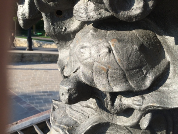 Detail of old fountain at La Guardia