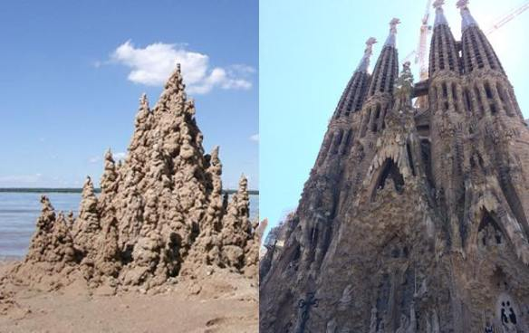 Drip castle on the left; La Sagrada Familia on the right. I'm just saying.