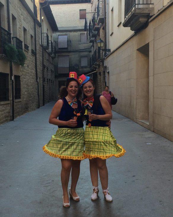 Festive ladies at the Festival of San Juan, La Guardia