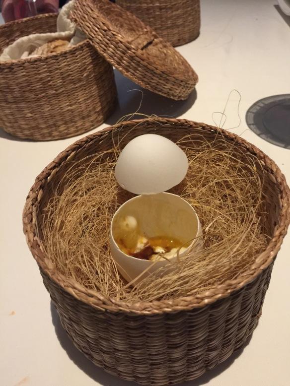 Coddled egg at Choco