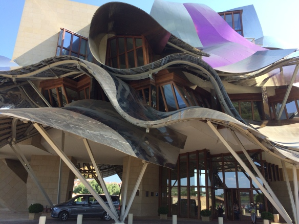 Frank Gehry's astonishing building at the Marques de Riscal Winery