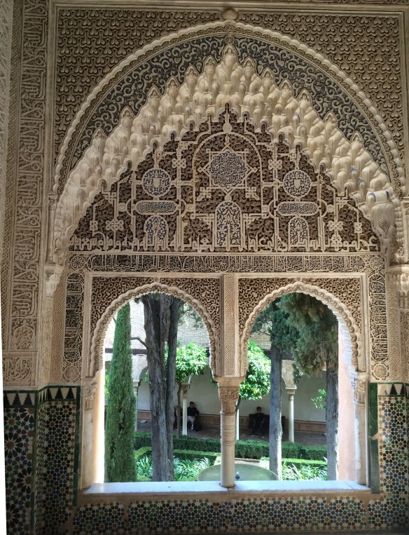 Window overlooking a courtyard, Nazaries Palace