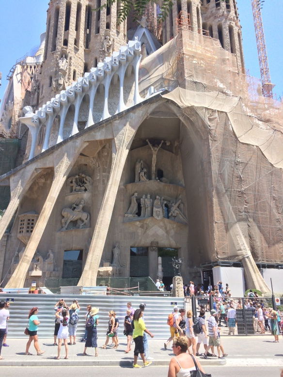 The Passion Facade. The pillars are intended to resemble bones.