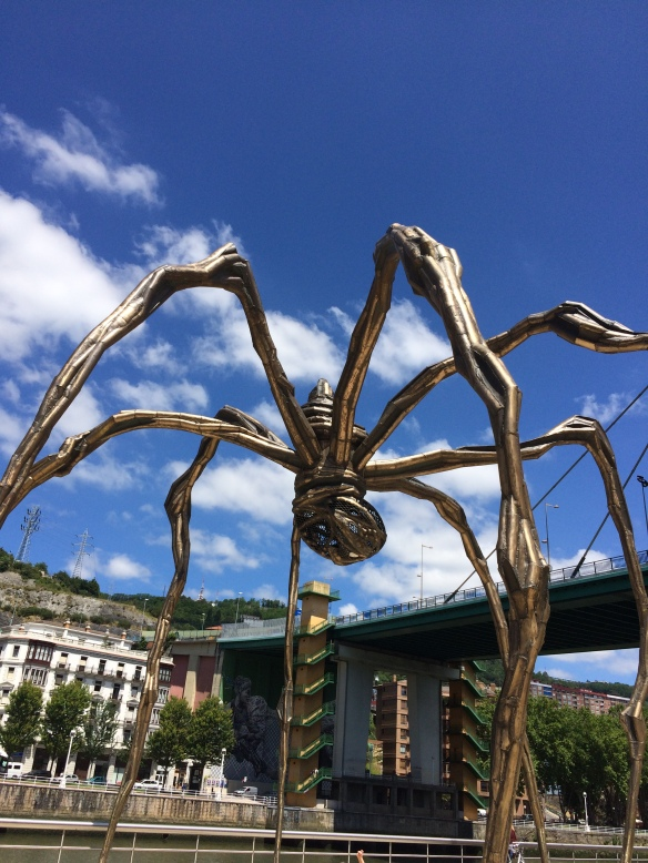 Spider sculpture at the Guggenheim. I didn't see who the artist was. Barbarian that I am.