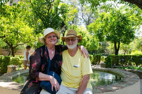 Tom and me in the gardens of the Cordoba Alcazar. A nice French couple took it.