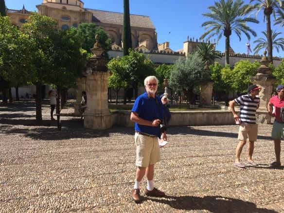 My beloved in the center courtyard of La  Mesquita