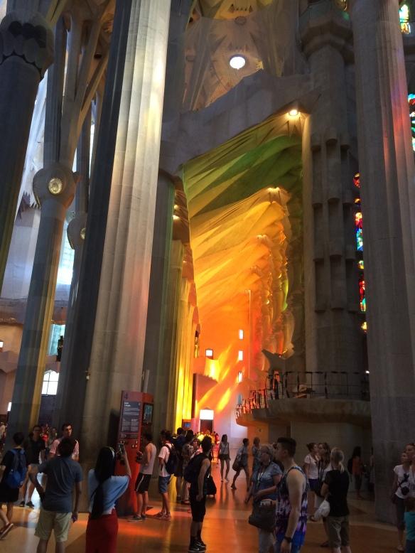 Western light, La Sagrada Familia