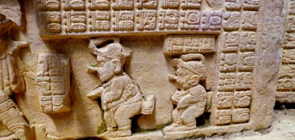 Aluxes from a bas-relief sculpture at Uxmal.