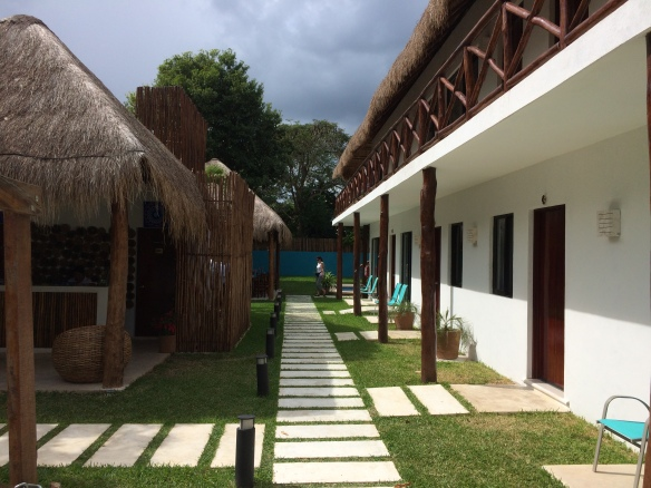 Our hotel at Laguna Bacalar