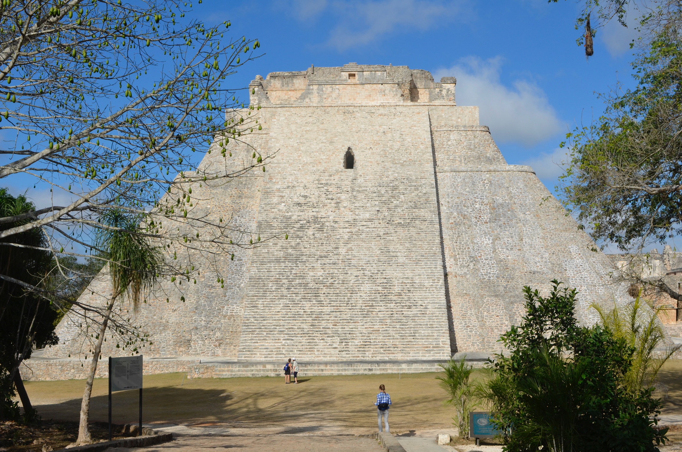 This is the pyramid that answers with a quetzal's cry when you clap your hands in front of it.