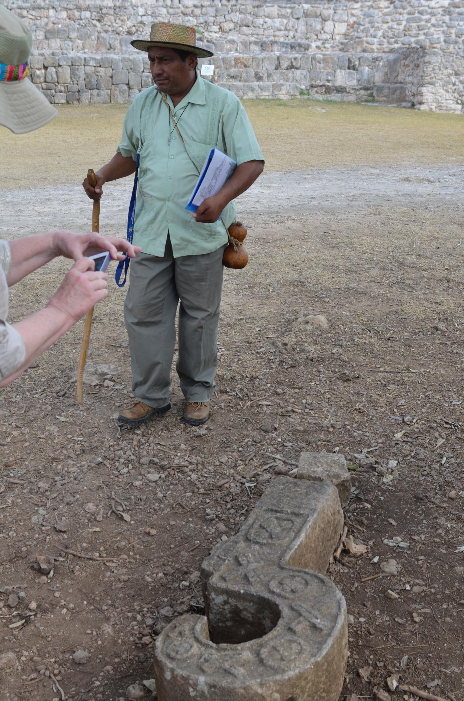 Dimitro, standing near a fallen Chaak nose.
