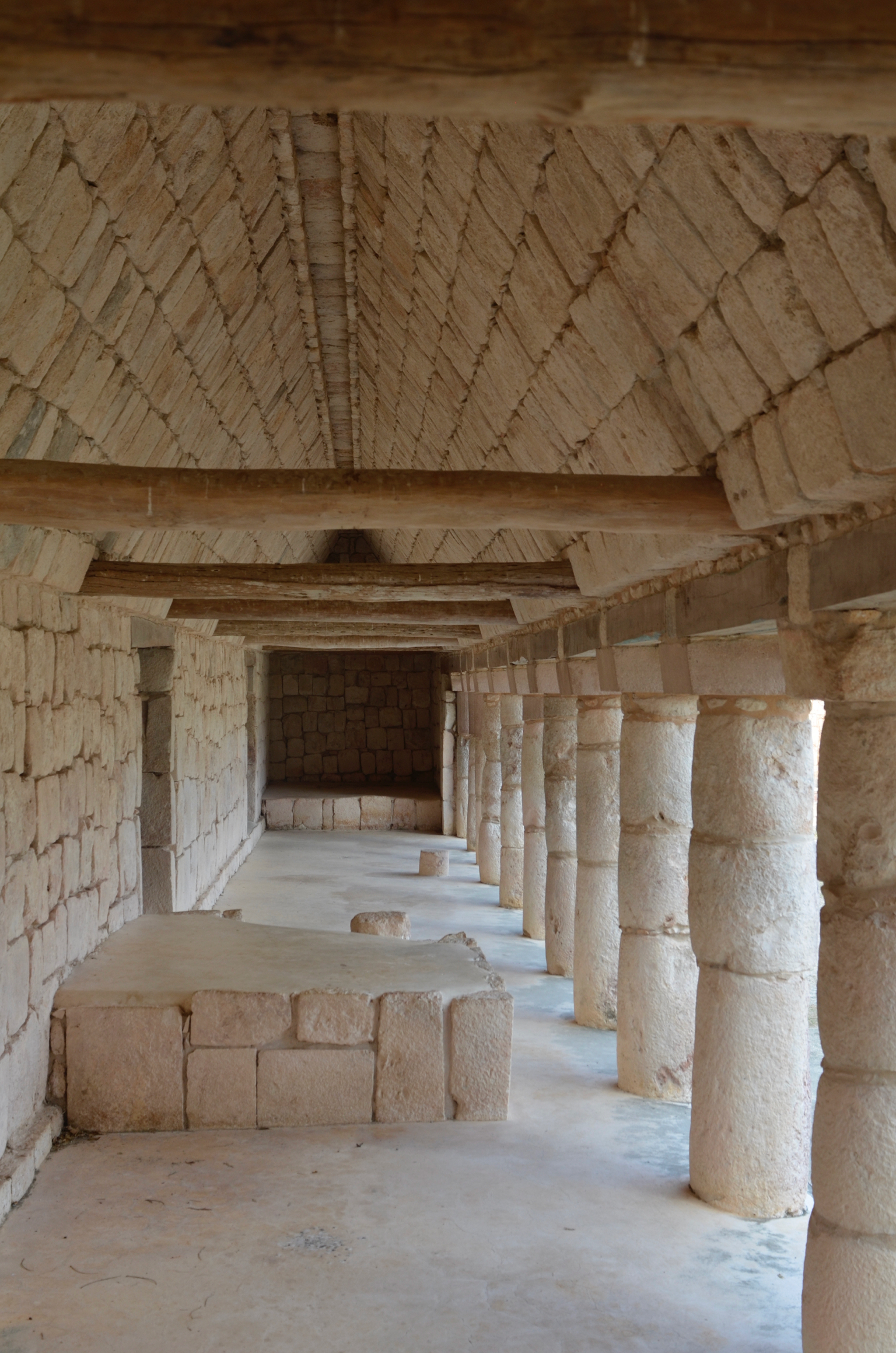The pillars at Uxmal resemble Doric columns, but without the fluting along the sides.