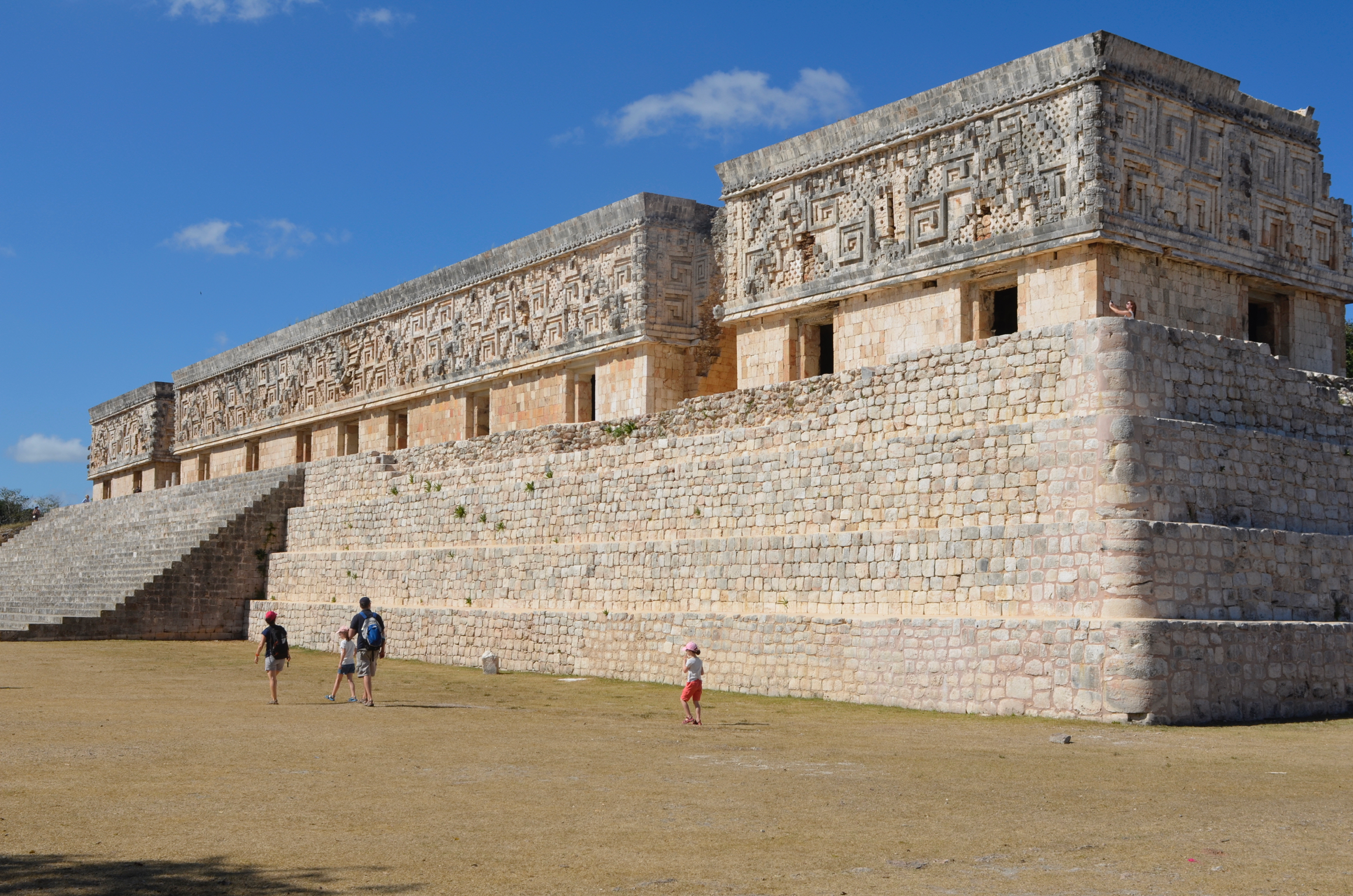 """The """"Governor's Palace"""" at Uxmal. Again, probably no governors, but it looked like a governor's palace to the Spanish."""