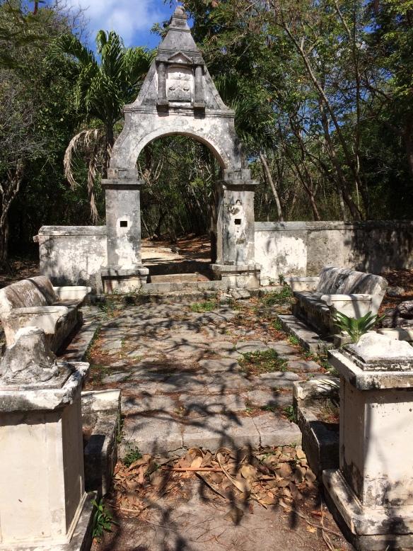The forgotten garden at Hacienda Mendaca.